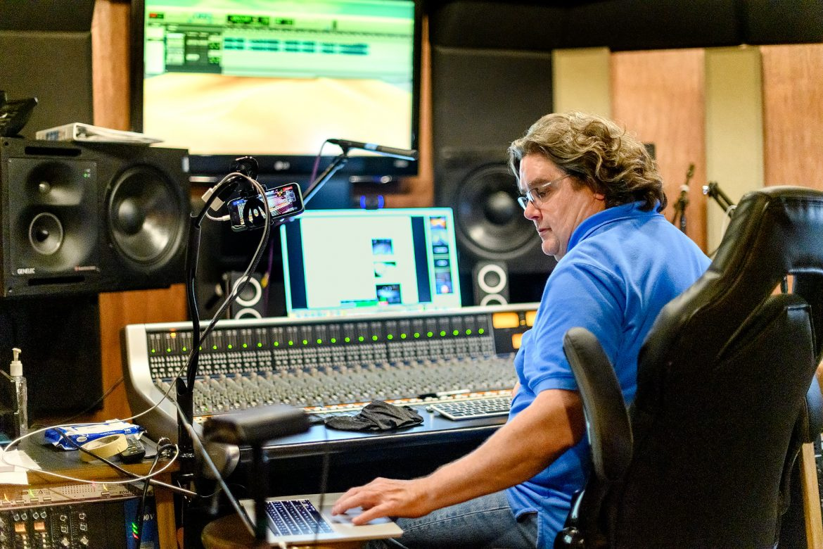 Bill Crabtree Recording Industry faculty profile. (Photo: J. Intintoli)