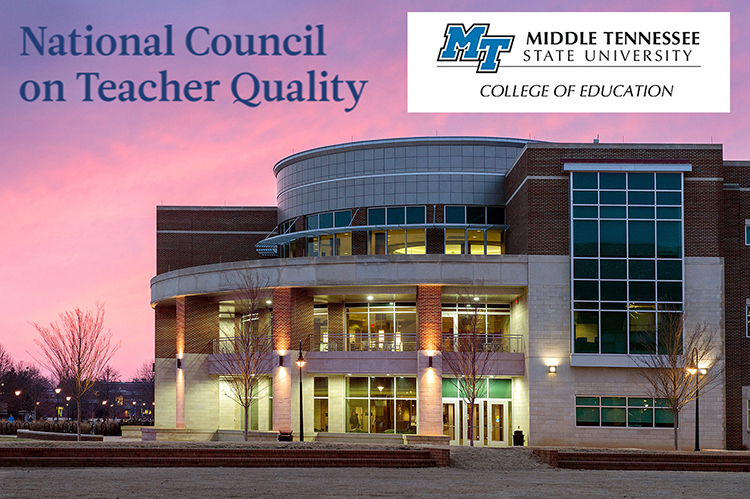 Middle Tennessee State University's College of Education illuminated during a sunset in March 2014. (MTSU file photo by Andy Heidt)