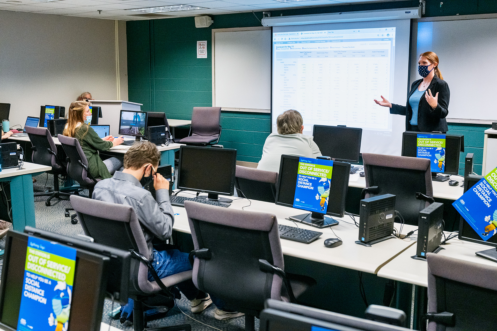 Dr. Elizabeth Whalen is teaching on-campus and online classes this semester. (Photo: Andy Heidt)