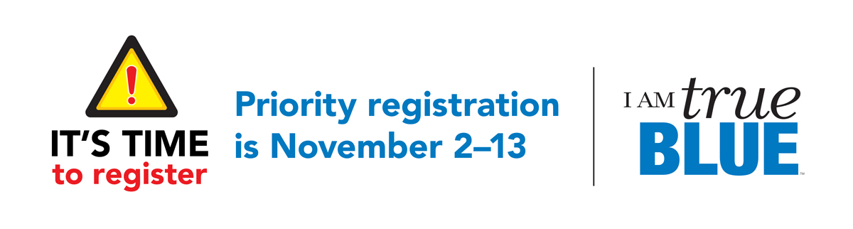 It's time Priority Registration graphic