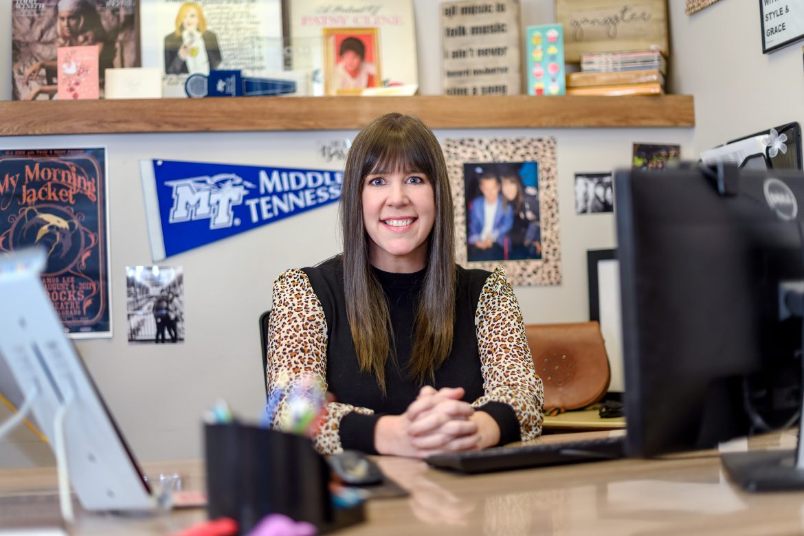 Laura Helen Husband works as an advisor in the College of Media and Entertainment. (Photo: J. Intintoli)