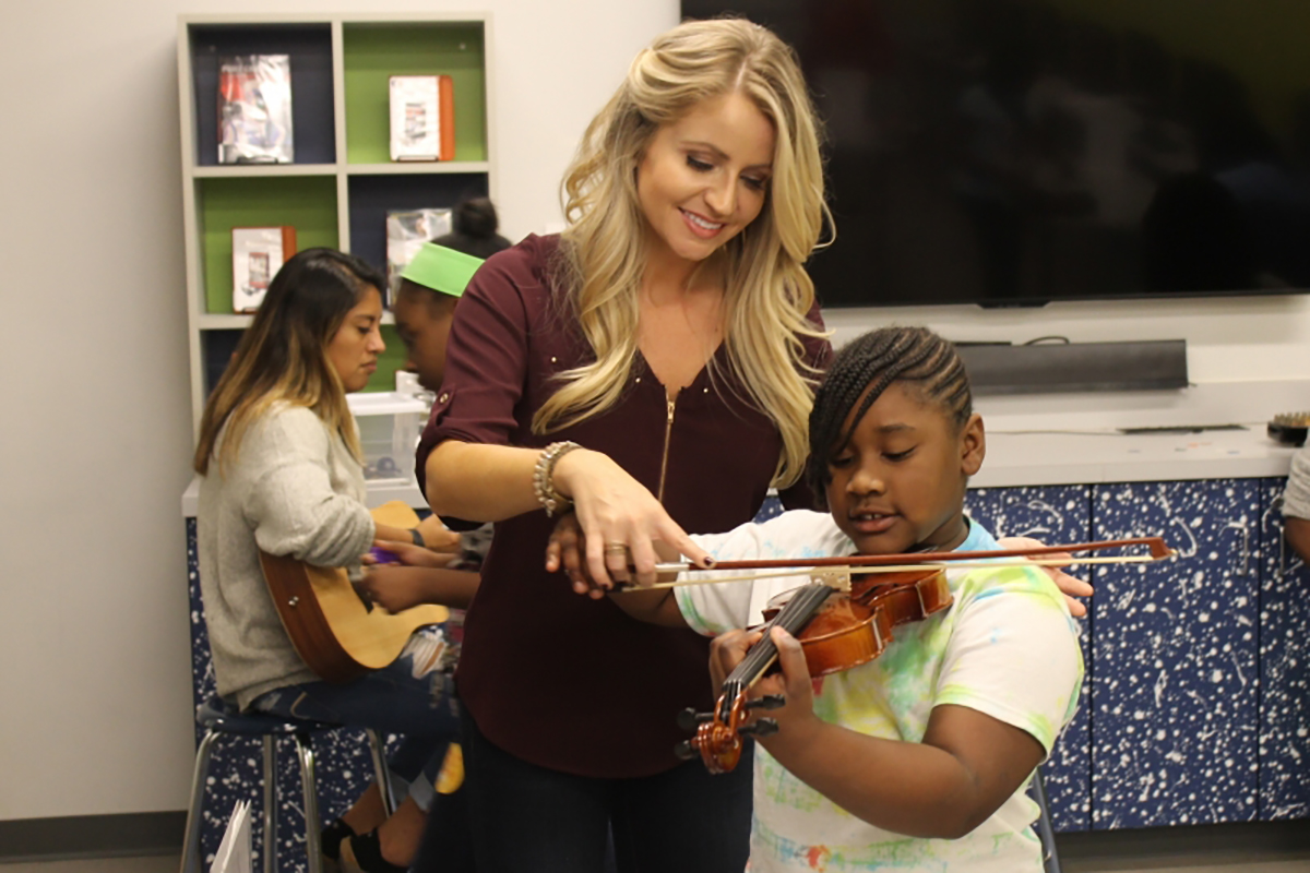 Students can learn how to play musical instruments during the fourth annual Tennessee STEAM Festival now through Oct. 18. MTSU faculty and staff are involved in six of the events this year. (Submitted photo by Tennessee STEAM Festival)