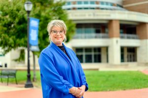 Danielle Moore College of Education lecturer faculty profile at the College of Business building. (Photo: J. Intintoli)