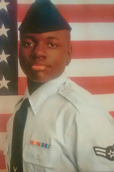 From 2006-10, Dravidi Q. Pasha served in the U.S. Air Force with the Tennessee Air National Guard's 164th Airlift Wing's logistics readiness squadron, with the rank of airman first class. He is scheduled to graduate from MTSU in 2021. (Submitted photo)