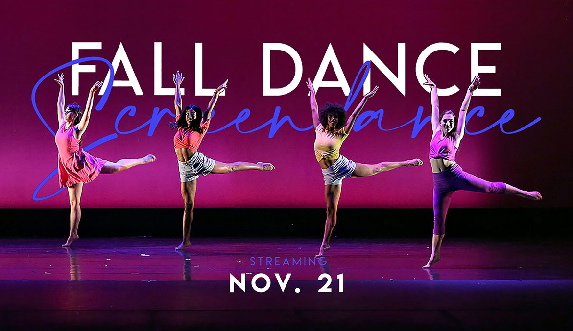 Student members of the MTSU Dance Theatre perform on the Tucker Theatre stage during the 2019 Fall Dance Concert in this file photo. MTSU Dance will present its 2020 Fall Dance Concert Saturday, Nov. 21, via video at the program's Facebook page: https://www.facebook.com/mtsu.dance. (Photo by Martin O'Connor)