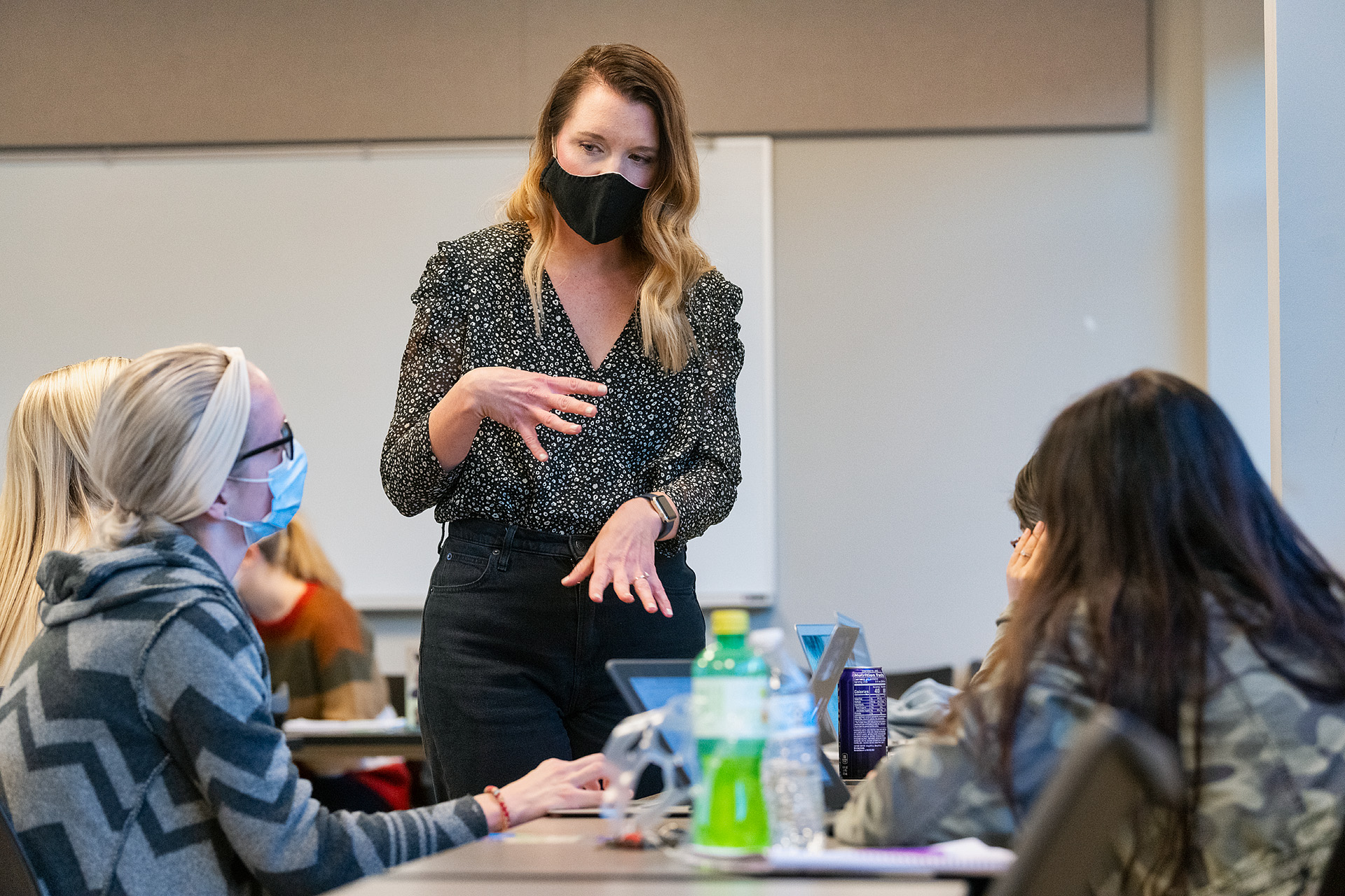 Katie Schrodt, Elementary & Special Education faculty, teaching in the College of Education Building. (Photo: Andy Heidt)
