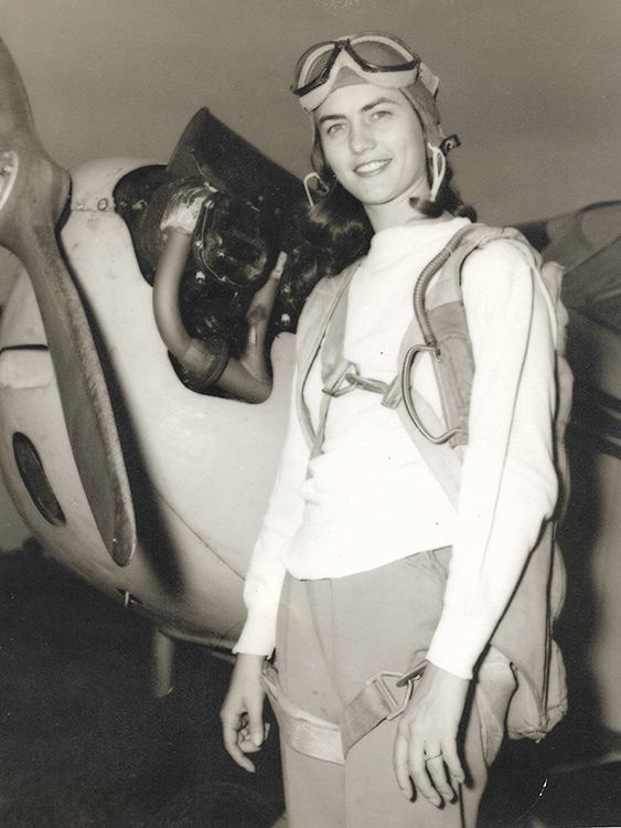 Mary Anderson prepares for her first solo flight in a Piper J-3 Cub at Murfreesboro Airport in 1942. She went on to become an aviation pioneer who lobbied for an aerospace major to be created at MTSU.(Photo submitted)