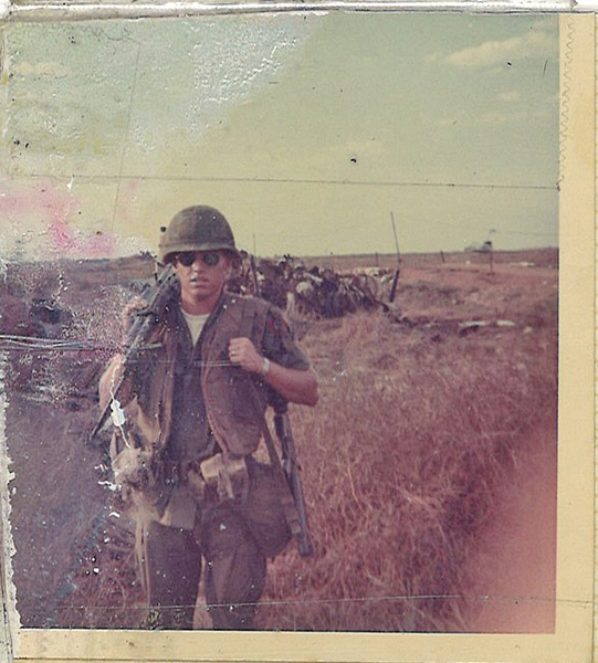 MTSU alumnus John Patterson (Class of 1972) was 21 in 1969 and serving in the U.S. Army's 82nd Airborne in Phu Loi, Vietnam. He served three years and reached the rank of specialist 5th class. (Submitted photo)