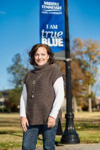 Paula Calahan, Advisor, Jennings A. Jones College of Business in and around Walnut Grove. (Photo: Andy Heidt)