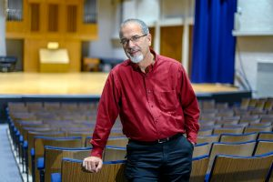 Tim Musselman, School of Music faculty, Manager Facilities and Publicity at Wright Music Hall. (Photo: J. Intintoli)