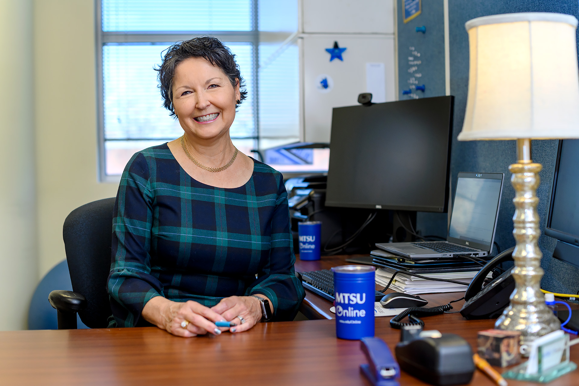 Cindy Adams, University College Administration, Director-MTSU Online Learning faculty profile at the MEC building. (Photo: J. Intintoli)