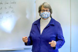 Dovie Kimmins, Mathematical Sciences faculty profile at KOM. (Photo: J. Intintoli)