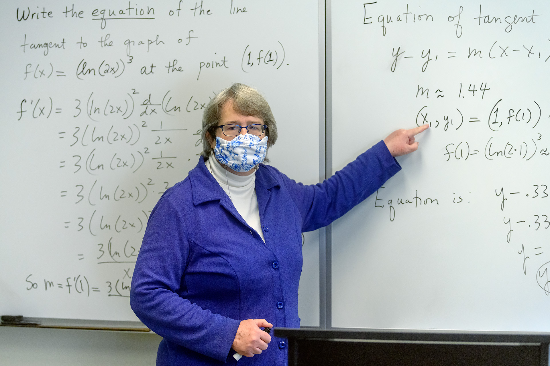 Dovie Kimmins, Mathematical Sciences faculty profile at KOM. (Photo: J. Intintoli)