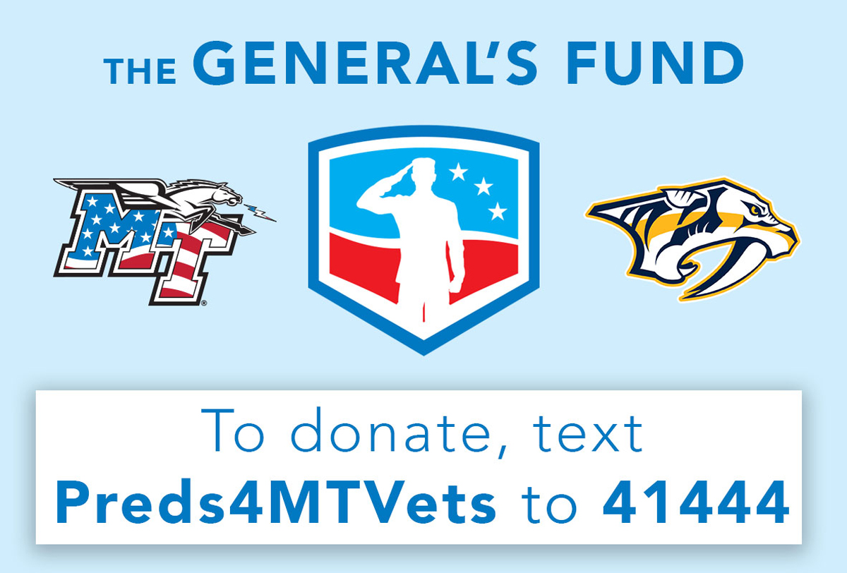 General's Fund donate graphic