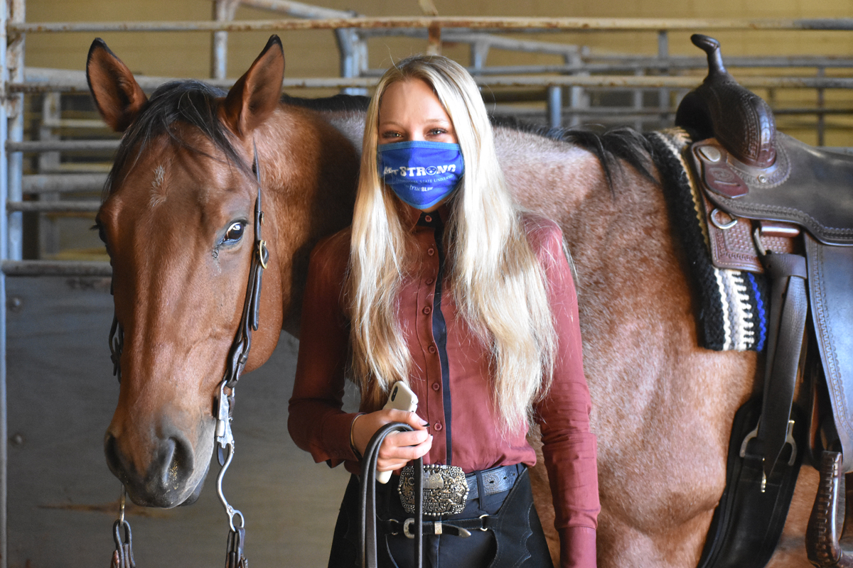 MTSU sophomore equestrian team member Alyssa Kraker and her horse, Eddie, have been a part of an outstanding fall season at IHSA competitions at Murray State University and the University of Tennessee-Knoxville this fall. (Submitted photo)