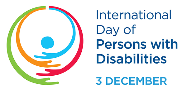 official logo for the United Nations' International Day of Persons with Disabilities, observed this year on Thursday, Dec. 3.