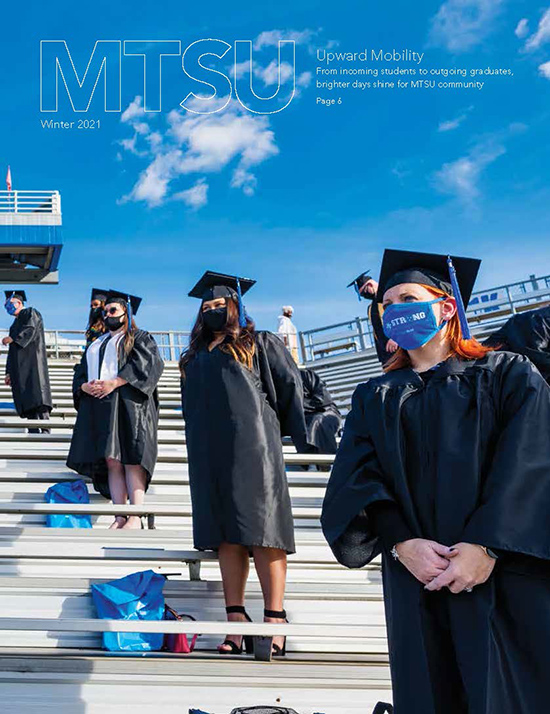 Click the image to access an electronic flip-page version of the magazine. (Cover image courtesy of MTSU Creative Marketing Solutions)