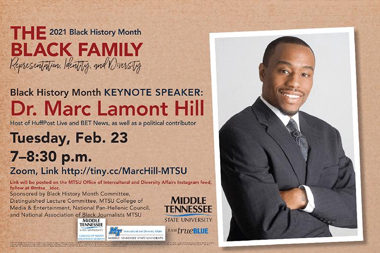 Marc Lamont Hill flyer-Black History Month 2021 keynote