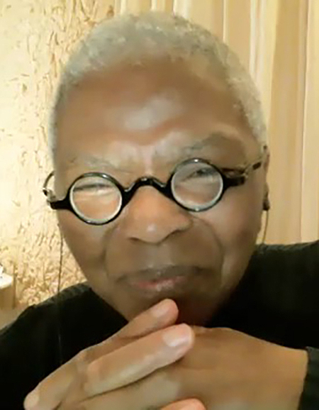 Dr. Mary Frances Berry, former chair of the U.S. Commission on Civil Rights and MTSU's 2021 National Women's History Month keynote speaker, speaks to a virtual audience Tuesday, March 16. (Screen grab from address)