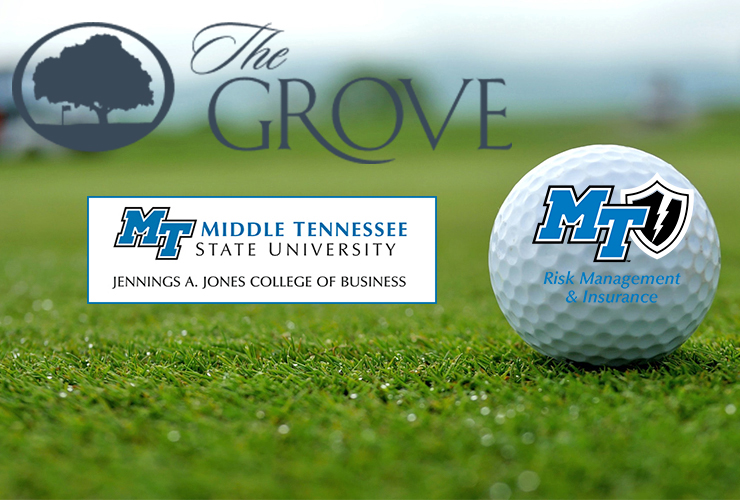 The 2021 Martin Chair of Insurance Golf Tourney is set for Monday, April 19, at The Grove in College Grove, Tenn. (Golf ball background photo by Jill Rose from Pexels)