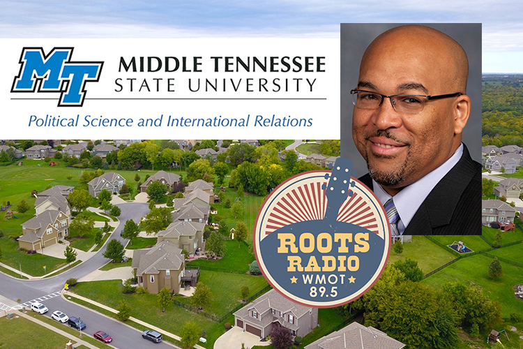 "Systemic discrimination in the nation's housing industry is the topic of a March 2, 2021, ""MTSU On the Record"" radio program on WMOT Roots Radio 89.5 featuring Dr. Louis Woods, an associate professor of history. (Background photo by David McBee/Pexels)"