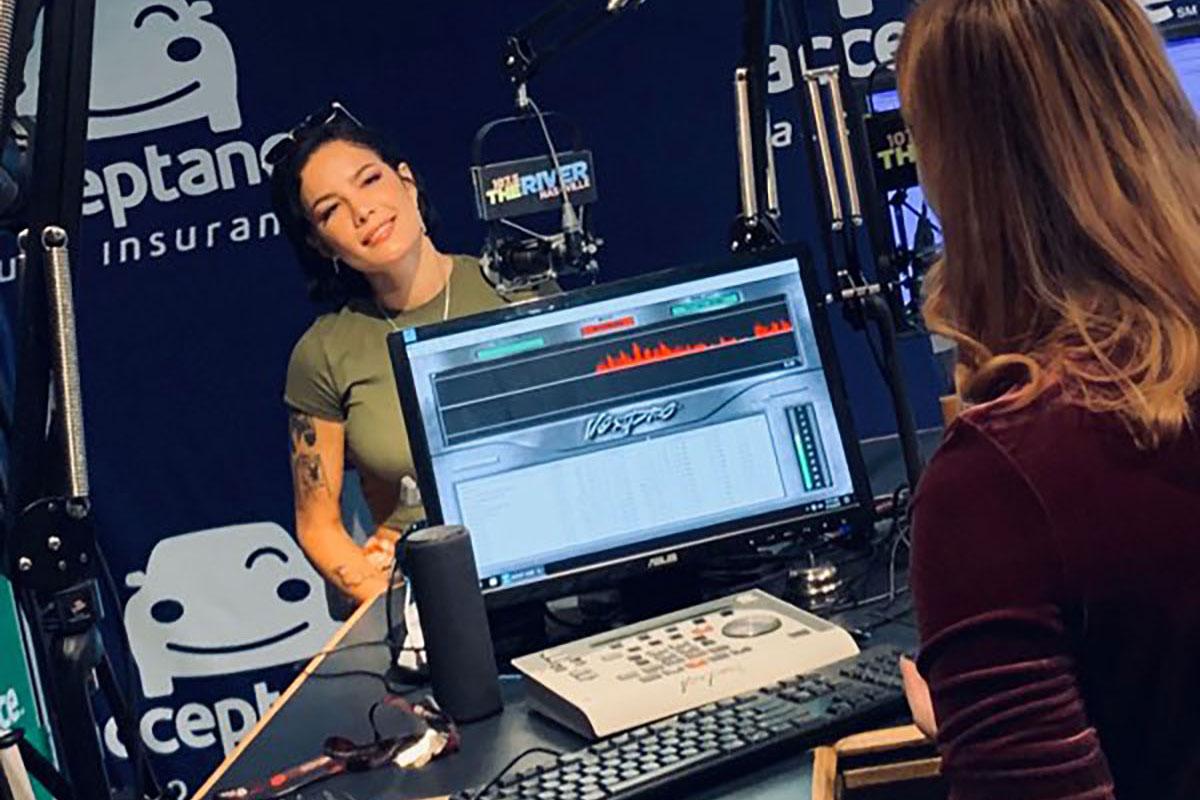 Savannah Grimm interviews pop star Halsey. (Photo: Submitted)