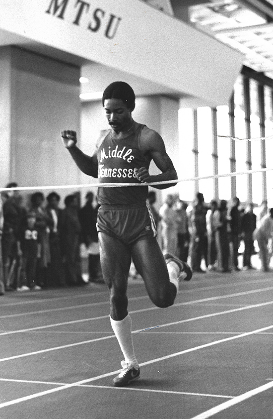 In the late 1970s, Middle Tennessee State University alumnus Ed Stegall was a scholarship athlete on the track team and won two conference championships running the 400-meter sprint. Stegall has re-enrolled at MTSU to finish his degree and is scheduled to graduate in August 2021. (Submitted photo)