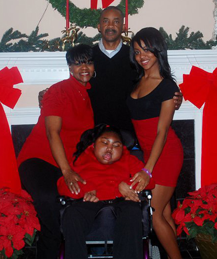 Middle Tennessee State University alumnus Ed Stegall, center, is pictured with his wife, Barbara, left, and daughters, Michelle, right, and LaToya, who had cerebral palsy and subsequently passed away. The Stegall family created the Toya Tuff Foundation in her memory to assist special needs children. (Submitted photo)