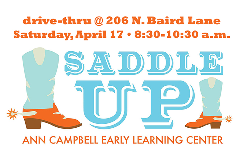 "MTSU Ann Campbell Early Learning Center ""Saddle Up"" 2021 graphic"