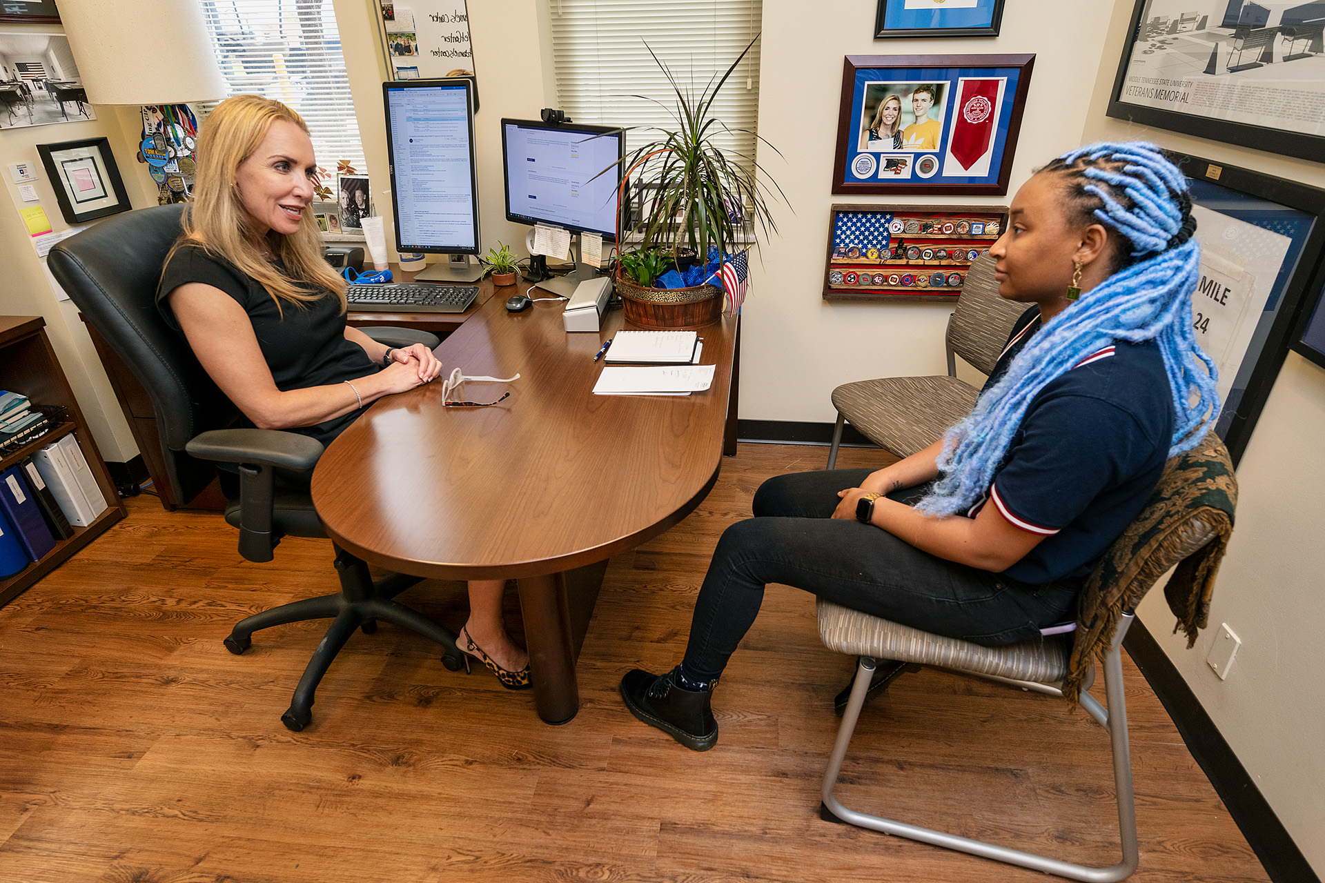 Keyann Reaves, 2018 alumna, Clinical Trial Research Assistant, Vanderbilt University Medical Center, General's Fund Recipient with Dr. Hilary Miller. (Photo: Andy Heidt)