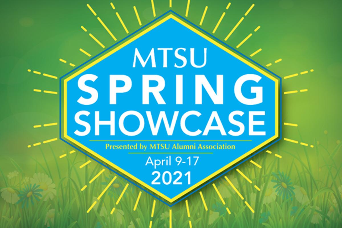 MTSU Alumni Spring Showcase graphic 2021