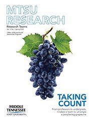 MTSU Research Magazine 2020 cover