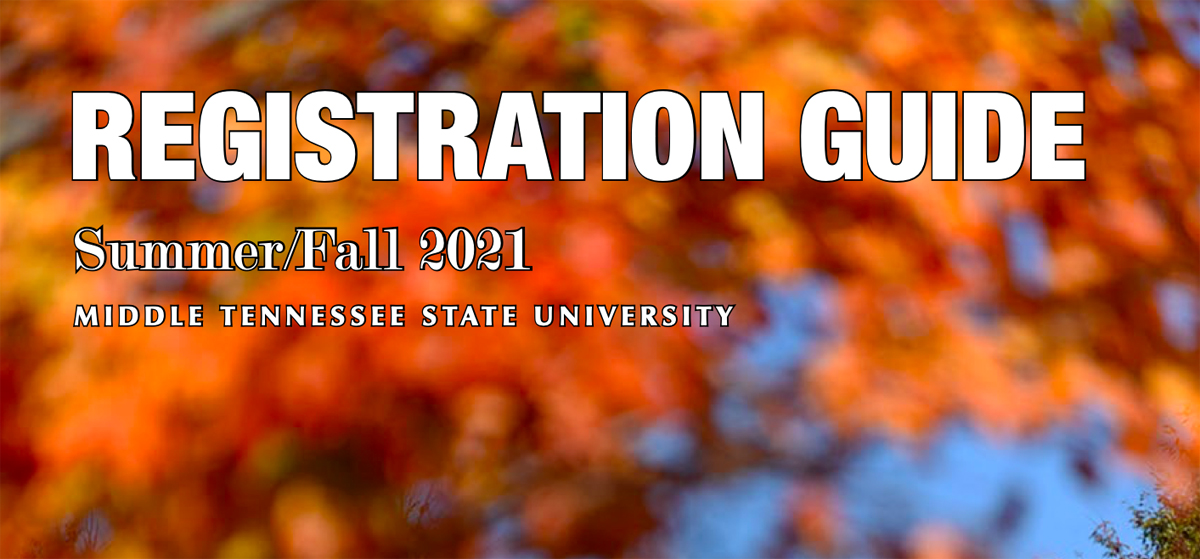 MTSU summer and fall registration graphic