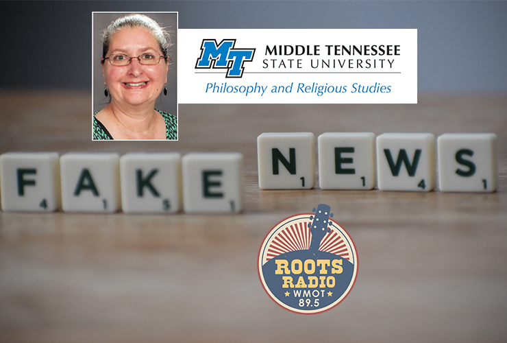"""Dr. Mary Magada-Ward, chair of the Department of Philosophy and Religious Studies in theCollege of Liberal Arts, was a guest recently on the """"MTSU On the Record"""" program with host Gina Logue. Her interview is set to air 9:30 to 10 p.m. Tuesday, May 11, and from 6 to 6:30 a.m. Sunday, May 16 on WMOT-FM Roots Radio 89.5 and www.wmot.org.(Background photo illustration by Joshua Miranda for Pexels)"""