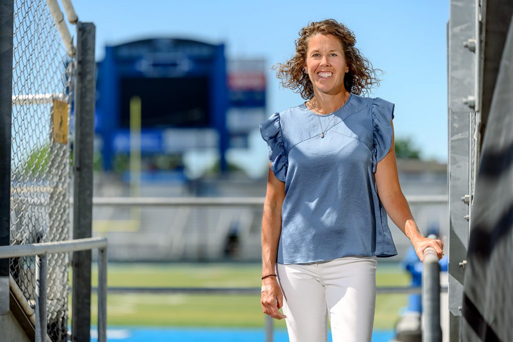 Service to students portrait of Athletic Training faculty Kristi Phillips.