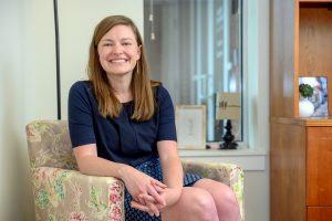 Service to students portrait of Sarah Hendrix, Grad Studies at the Ingram building. (Photo: J Intintoli)