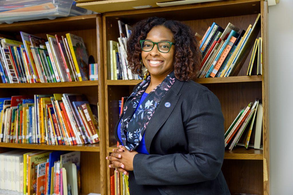 Service to students portrait of Karen C. Davis.