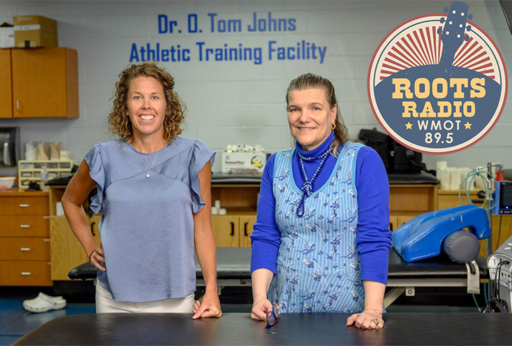 """Drs. Kristi Phillips, left, and Helen Binkley of MTSU's Department of Health and Human Performance are the scheduled guests on the Aug. 3 edition of the """"MTSU On the Record"""" radio program, airing on WMOT-FM Roots Radio 89.5 and www.wmot.org.(MTSU file photo)"""