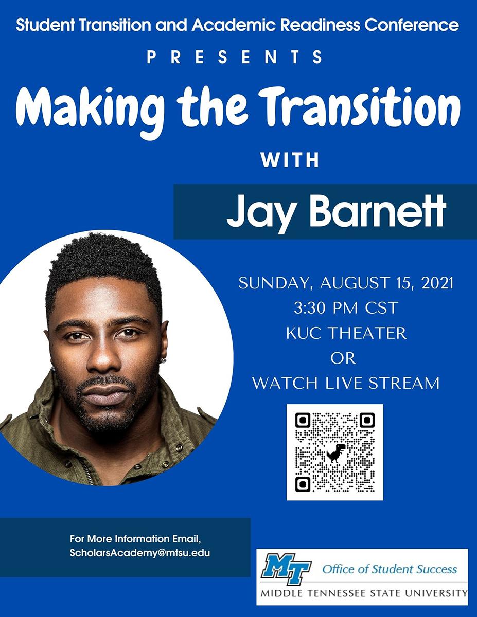 Keynote speaker Jay Barnett graphic
