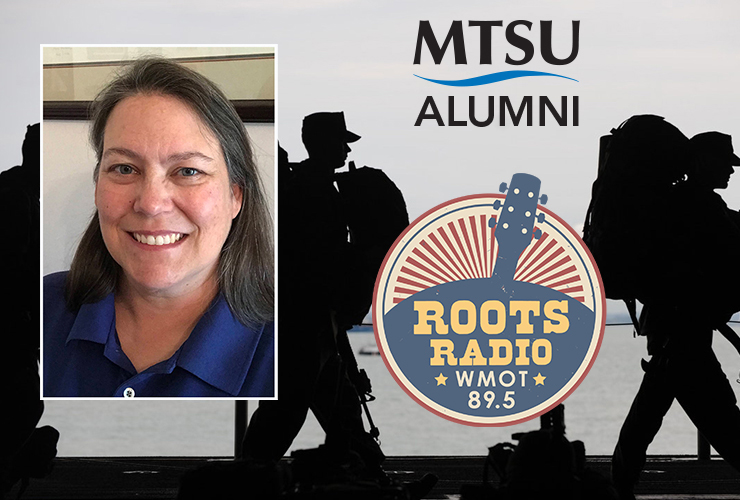 """MTSU alumna Bethany Hall, who works for the Consolidated Utility District of Rutherford County, is a guest on the next """"MTSU On the Record"""" radio program to discuss her work with the U.S. Department of POW/MIA Accounting Agency in Hawaii to help locate the remains of American armed forces personnel. (Hall photo submitted; background photo courtesy of pexels.com)"""