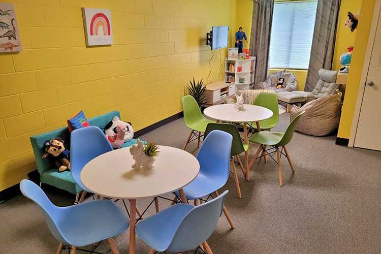 """This is one of the renovated rooms inside the Tennessee Department of Children's Services Resource Linkage Office in Nashville, Tenn., that temporarily houses and provides """"a safe space"""" for the hundreds of children entering the Davidson County foster care system each year. The renovations were paid for by MTSU alumnus and Tennessee Titans safety Kevin Byard and his wife, Clarke, through The Byard Family Legacy Fund. (Submitted photo)"""