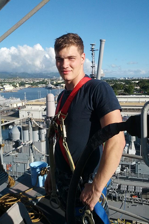 MTSU senior and U.S. Navy veteran Logan Stepp, now 30, was in the Navy for seven years, a large portion of that spent in Hawaii. He met his wife, Zsarel, while at Pearl Harbor. (Submitted photo)