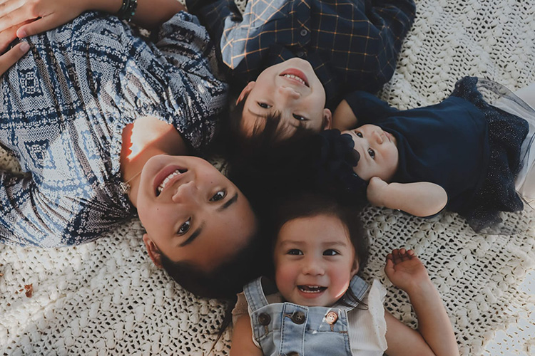 MTSU senior and U.S. Navy veteran Logan Stepp and his wife, Zsarel, have four children. Pictured, clockwise from left, are Kalealani, 12; Niles, 7; Vera, 1; and Hazel, 3. (Submitted photo)
