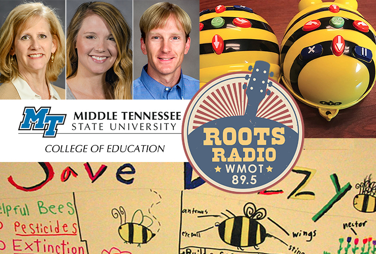 """Top left, from left, College of Education professor Tracey Huddleston, assistant professor Katie Schrodt and professor Jeremy Winters are guests on the upcoming """"MTSU On the Record"""" radio program that will air from 9:30 to 10 p.m. Tuesday, Sept. 28, and from 6 to 6:30 a.m. Sunday, Oct. 3, on WMOT-FM Roots Radio 89.5 and www.wmot.org. (MTSU headshots; submitted secondary photos)"""