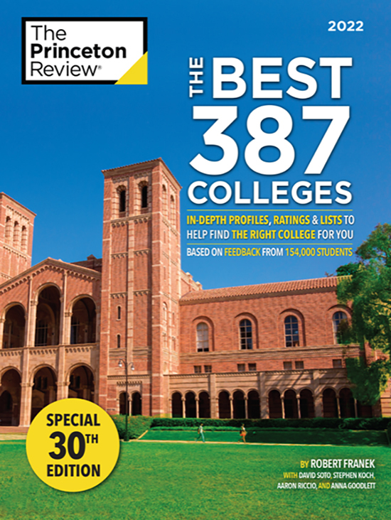 Click the image to see MTSU's profile on The Princeton Review's web listing of the Best 387 Colleges. (Cover photo courtesy of The Princeton Review)