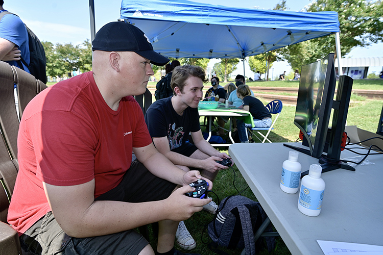 MTSU Esports was among the student groups participating in the Sept. 8, 2021, Student Organization Fair held on the Student Union Commons. (MTSU photo by Andy Heidt)