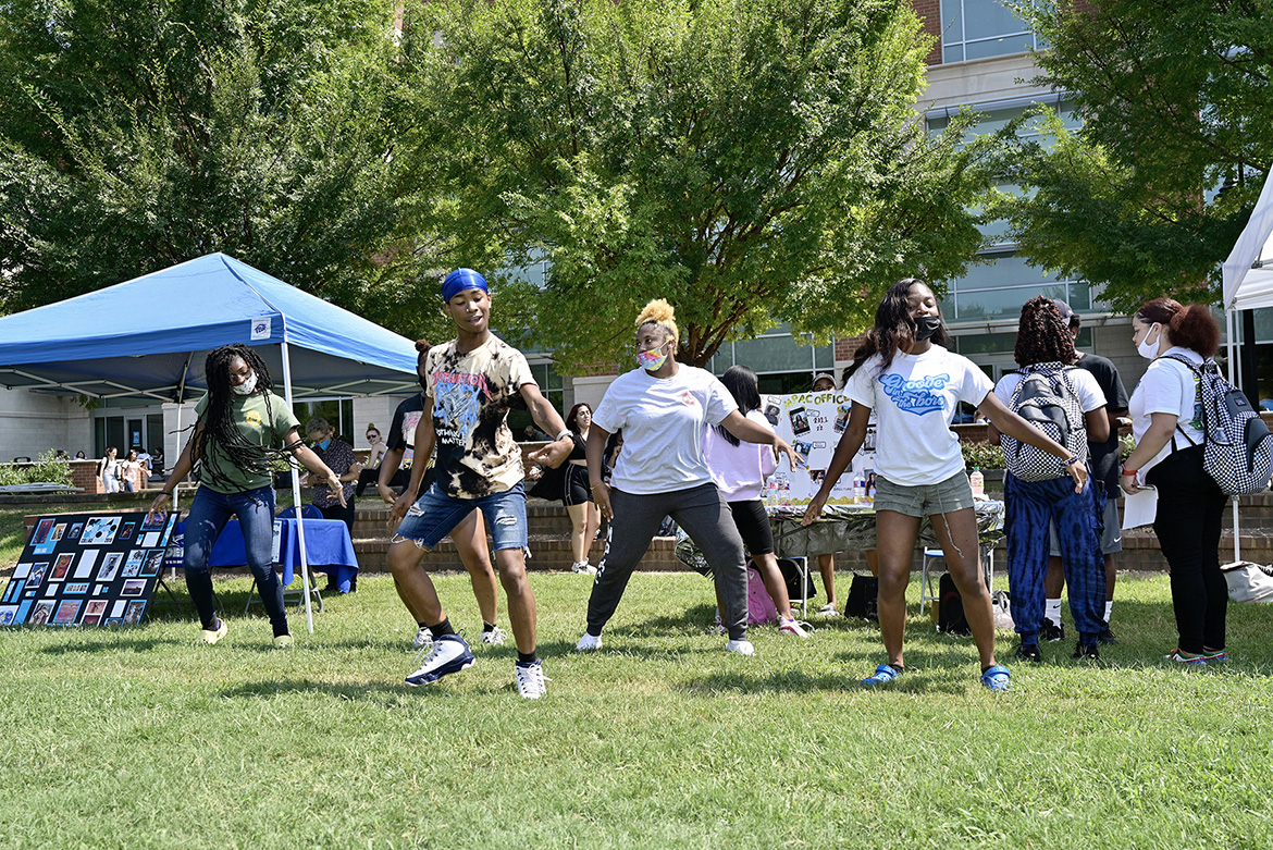A host of student groups participated in the Sept. 8, 2021, Student Organization Fair held on the Student Union Commons. (MTSU photo by Andy Heidt)