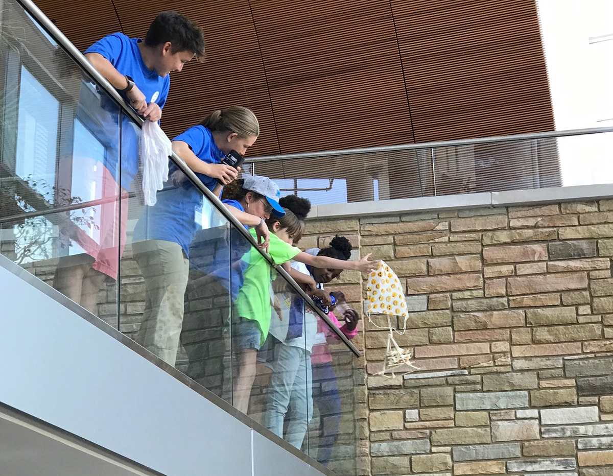 Participants attending a previous Tennessee Girls in STEM Conference at MTSU try to get their egg to drop without breaking in a September 2019 file photo. Egg drop will be one of the events during the 25th annual TGIS event at MTSU Sept. 25. (Submitted photo by Nathan Wahl)
