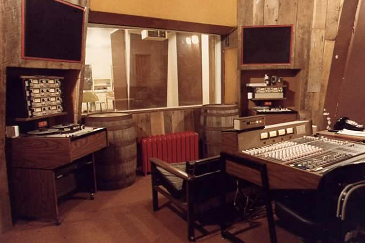"""This file image from the 1980s shows the recording studio at Haynes House, Middle Tennessee State University's first free-standing facility to train students in the Department of Recording Industry. MTSU relocated two of its studios, called Studios D and E, from an aging nearby dorm targeted for demolition to a renovated office building only yards from the now-razed Haynes House site and now has nearly 5,000 square feet and nearly $2 million worth of customized, expandable, """"world-class"""" space ready to train students. (MTSU file image courtesy of the Department of Recording Industry)"""