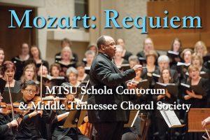 Student, community choirs present Mozart's 'Requiem' Oct. 24 at MTSU